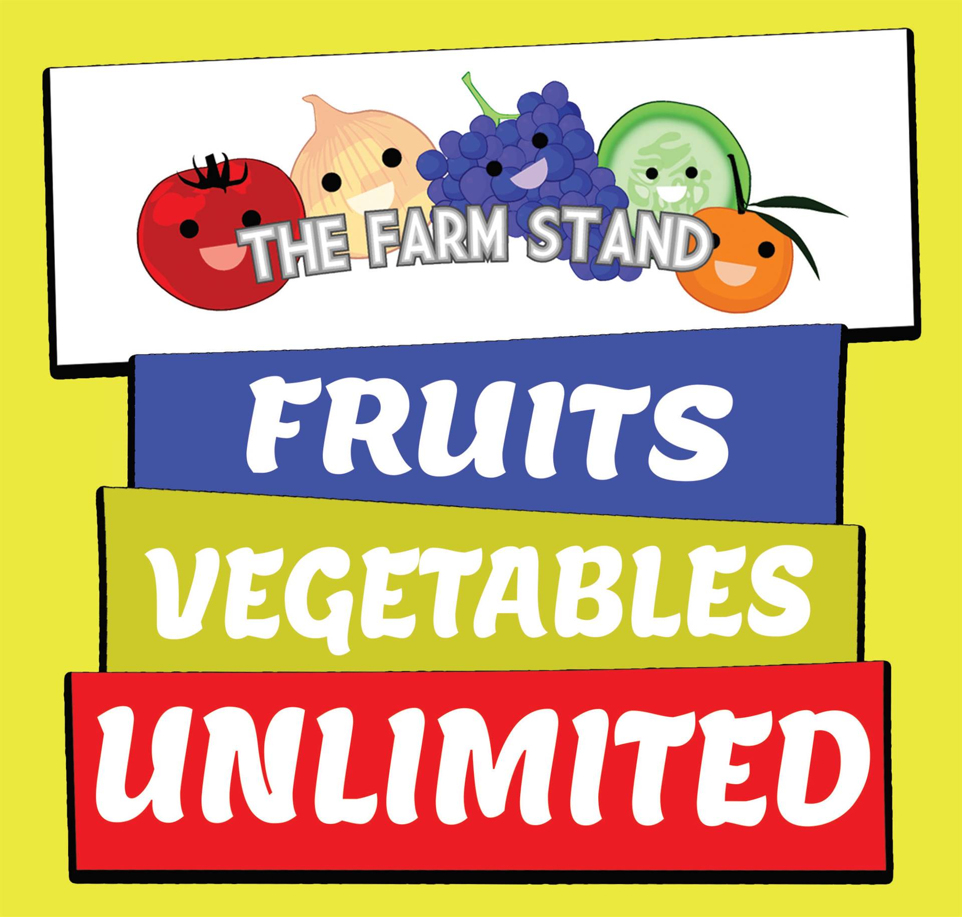 Unlimited Fruits & Vegetables on The Farm Stand